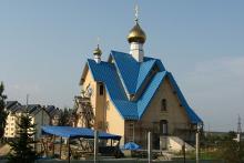 Строящийся храм в честь святого великомученика Георгия Победоносца в Саласпилсе