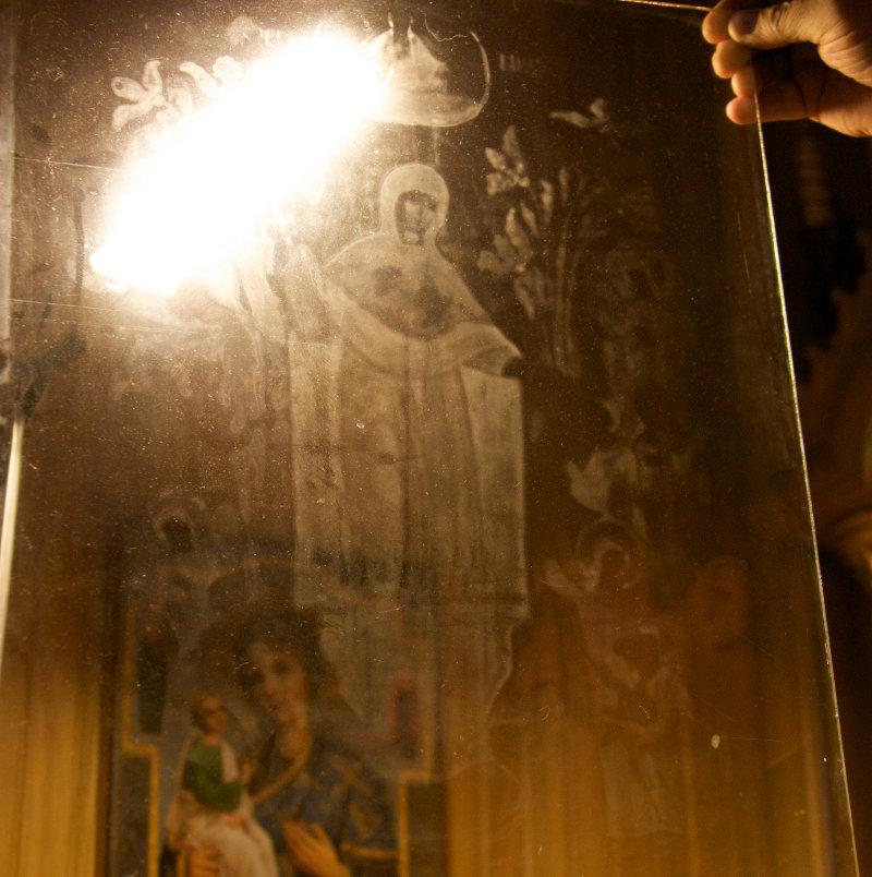 икона на стекле: