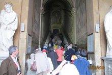 Святая лестница, по которой Господь спускался от Понтия Пилата. Рим. Храм Святая Святых