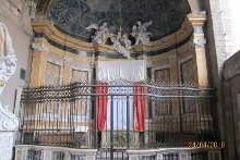 Мощи св. мчч. Киприана и Иустины. Храм «Крещальня Иоанна Крестителя»
