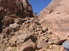 Спуск с горы Синай по монашеской тропе.