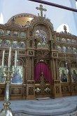 Амвон над Царскими вратами для чтения Евангелия. Храм св. Нектария. Необычное явление для Русской Церкви