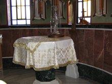Престол на одой ножке. Храм св. Нектария. Необычное явление для Русской Церкви
