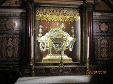 В ковчеге две доски от яслей Господа Иисуса Христа Храм Санта Мария Маджоре. Рим. Италия.