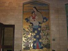 Японская икона Пресвятой Богородицы в храме над домом где проживал Господь Иисус Христос, Пресвятая Богородица и Иосиф обручник