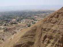 Вид Иерихона с того места, где Господь пребывал в посте сорок дней.