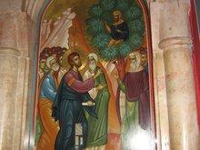 Иерихон. В монастыре на месте где Господь Иисус Христос беседовал с мытарем Закхеем.
