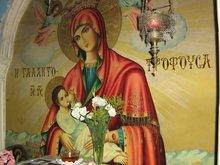 Икона Богородицы в пещере где останавливалось Святое Семейство по дороге в Египет. М-стырь прп. Герасима Иорданского