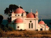 Храм 12-ти апостолов на месте где их призвал Господь Иисус Христос.