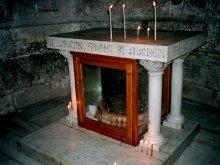 Престол в храме Гроба Господня сооруженный на колонне на которой бичевали Господа Иисуса Христа.