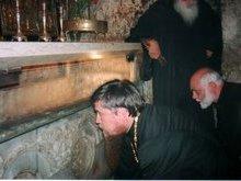 Место погребения Пресвятой Богородицы. Гробница.
