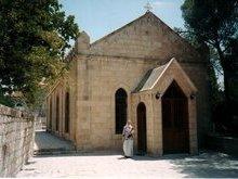 Храм на месте обретения главы пророка Иоанна Предтечи. Вознесенский монастырь. Елеонская гора.