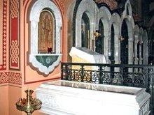 Мощи прпмц. Варвары в храме Марии Магдалины. На Елеонской горе.