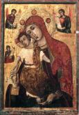 Чудотворная икона Панагия Трикуккя по преданию неоднократно спасала от бурь и прочих стихийных бедствий. Как утверждают, укрощает не только физические стихии, но и духовные.
