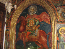 Фреска св. Мины Котуанского.