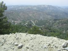 Вид из монастыря  Пресвятой Богородицы Троодосской.